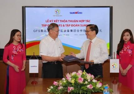 Kênh VTV1 - Lễ ký thoả thuận hợp tác giữa Tập đoàn GFS và Tập đoàn Sunward
