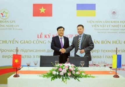 Lễ ký hợp tác sản xuất phân bón GFS và Ucraina