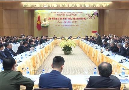 THND -TT Nguyễn Xuân Phúc gặp mặt đại biểu giới trí thức, các nhà khoa học Việt Nam đầu xuân Kỷ Hợi
