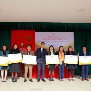 Tập đoàn GFS trao tặng sách và thiết bị trường học tại huyện Đan Phượng