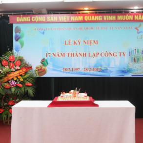 Lễ kỷ niệm 17 năm thành lập Công ty CP Quan hệ Quốc Tế Đầu Tư sản xuất